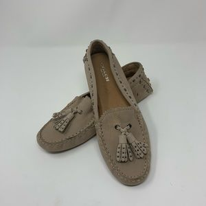 COACH Norfolk Driving Suede Loafers Moccasins